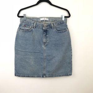 Vintage Tommy Hilfiger Denim Pencil Skirt Size 10